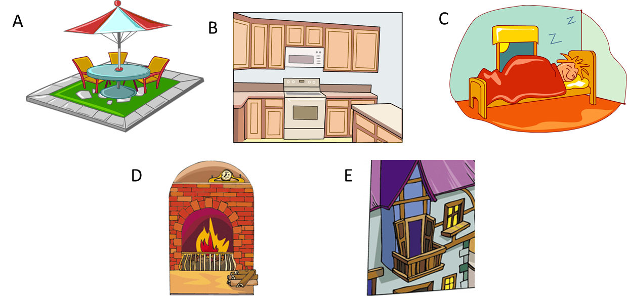Clipart houses hall. Esl vocabulary picture descriptions