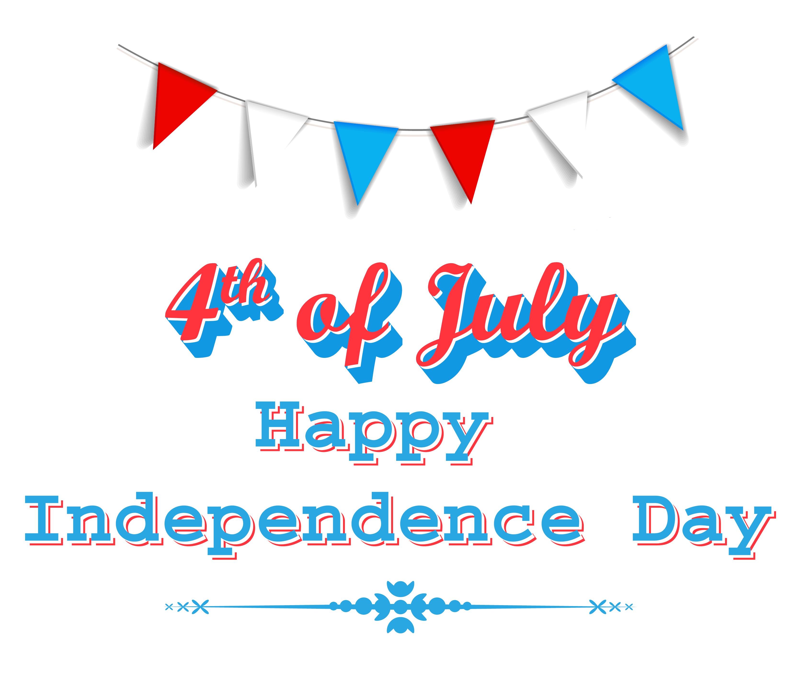 Happy independence day th. Kids clipart 4th july