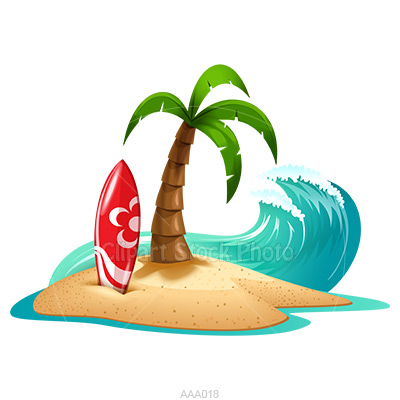 Clipart beach. Tropical panda free images