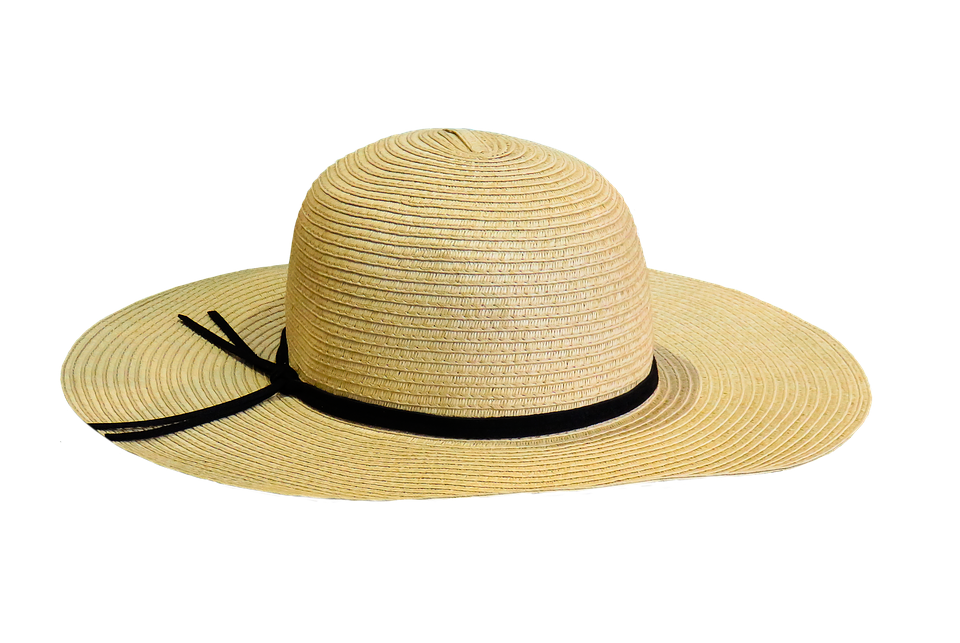 Sun protection summer free. Hat clipart old fashioned