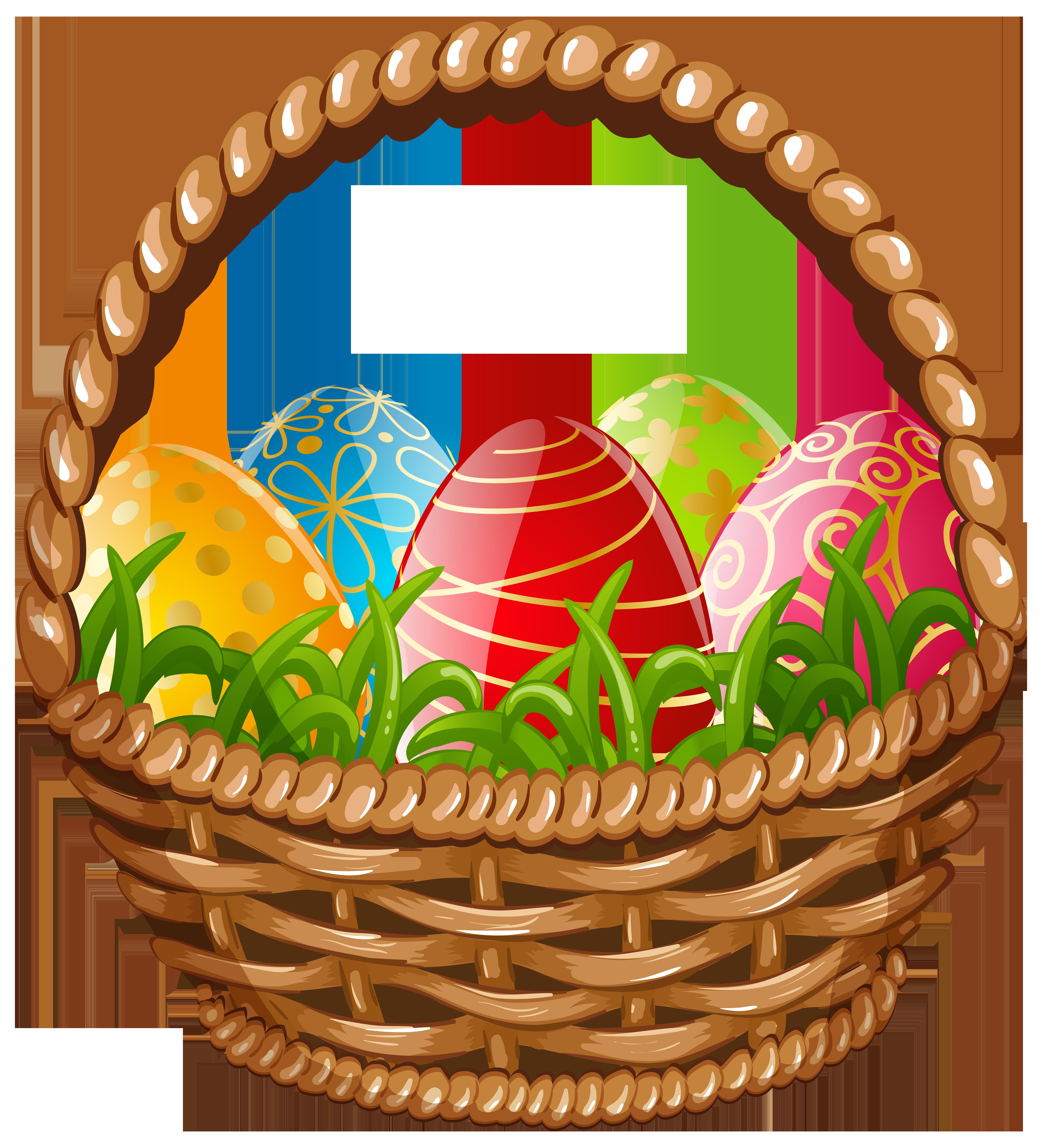 Easter basket png clip. Fruits clipart egg