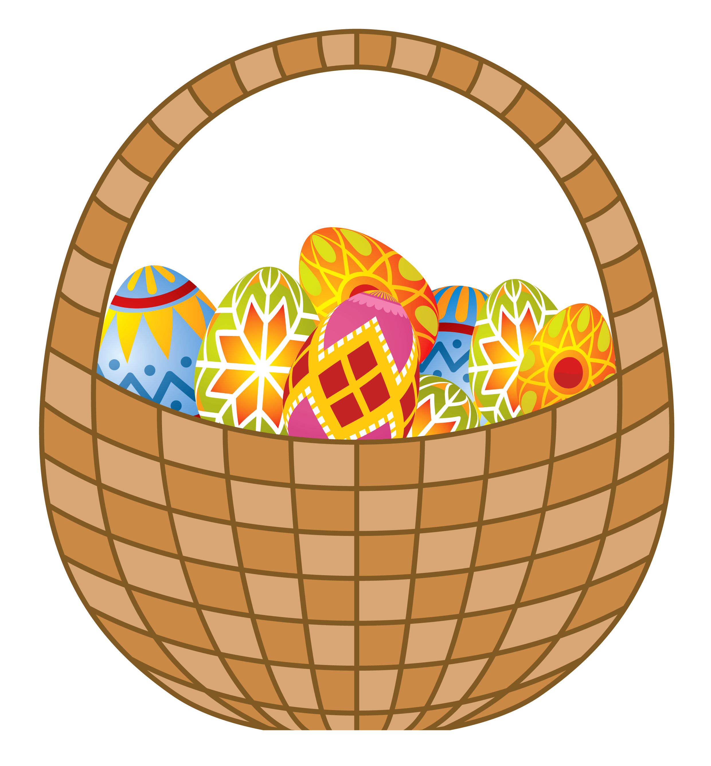 Easter eggs and png. Water clipart basket