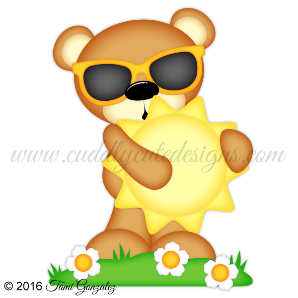 Clipart beach bear. Bears sunshine
