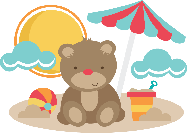 At the pinterest svg. Clipart beach bear