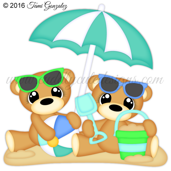 Bears. Clipart beach bear