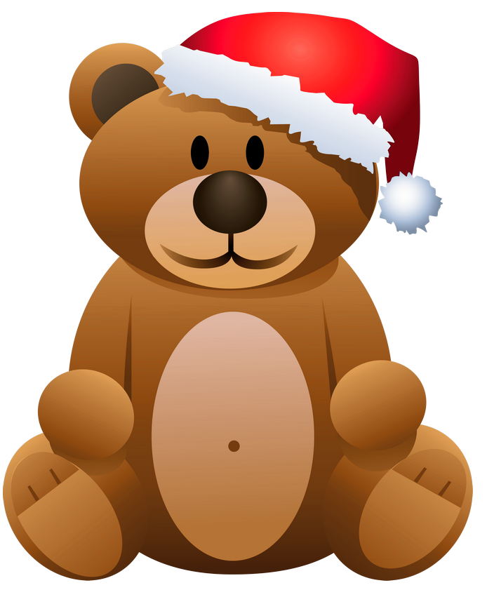 Kiss clipart teddy bear. Christmas brown png gallery