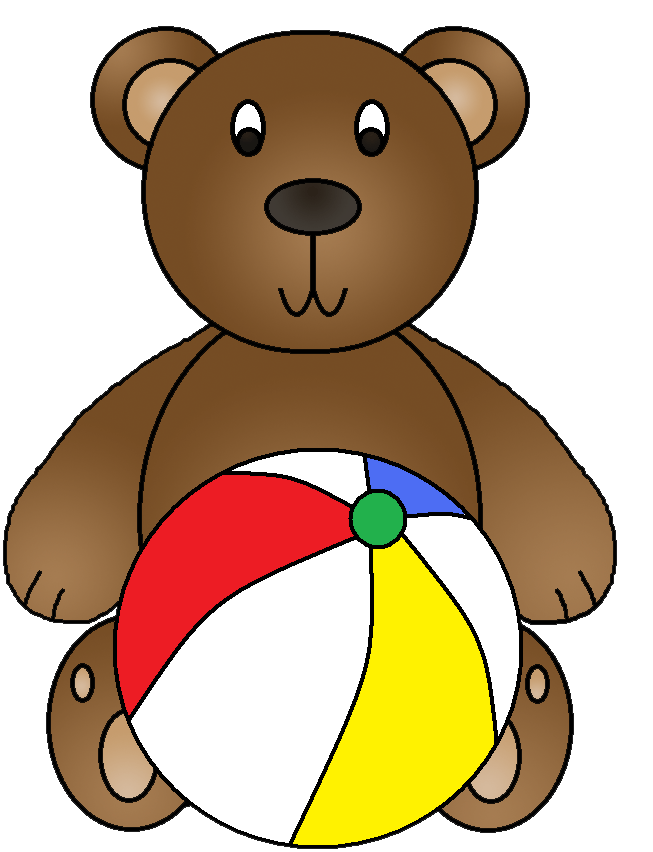 Clipart beach bear. Graphics by ruth bears