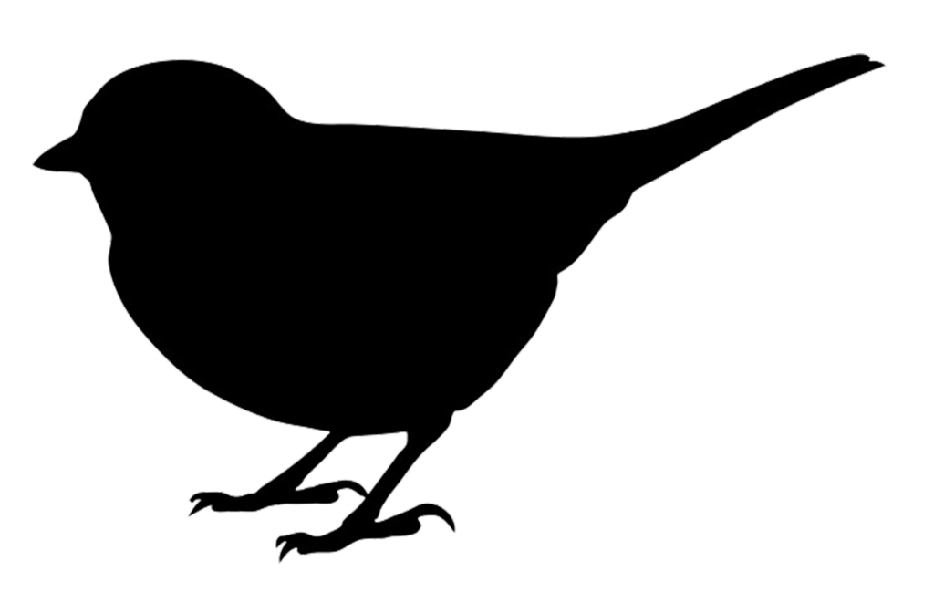 Silhouette at getdrawings com. Clipart birds black and white