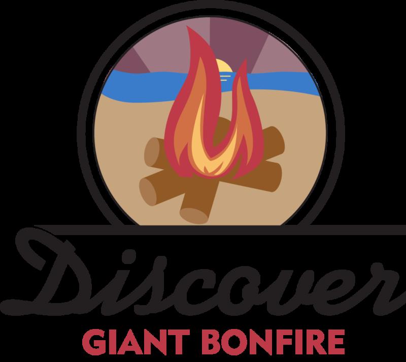 Giant presque isle partnership. Clipart beach bonfire
