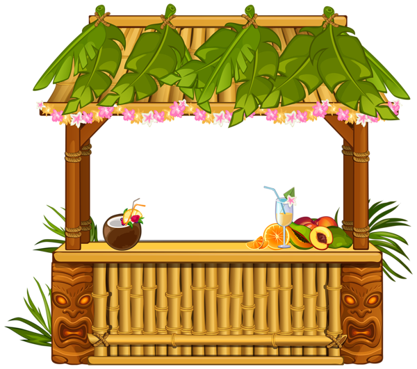 Clipart pineapple funky. Beach bar png image