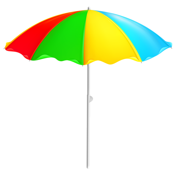 Clipart umbrella kawaii. Colorful beach png transparentes