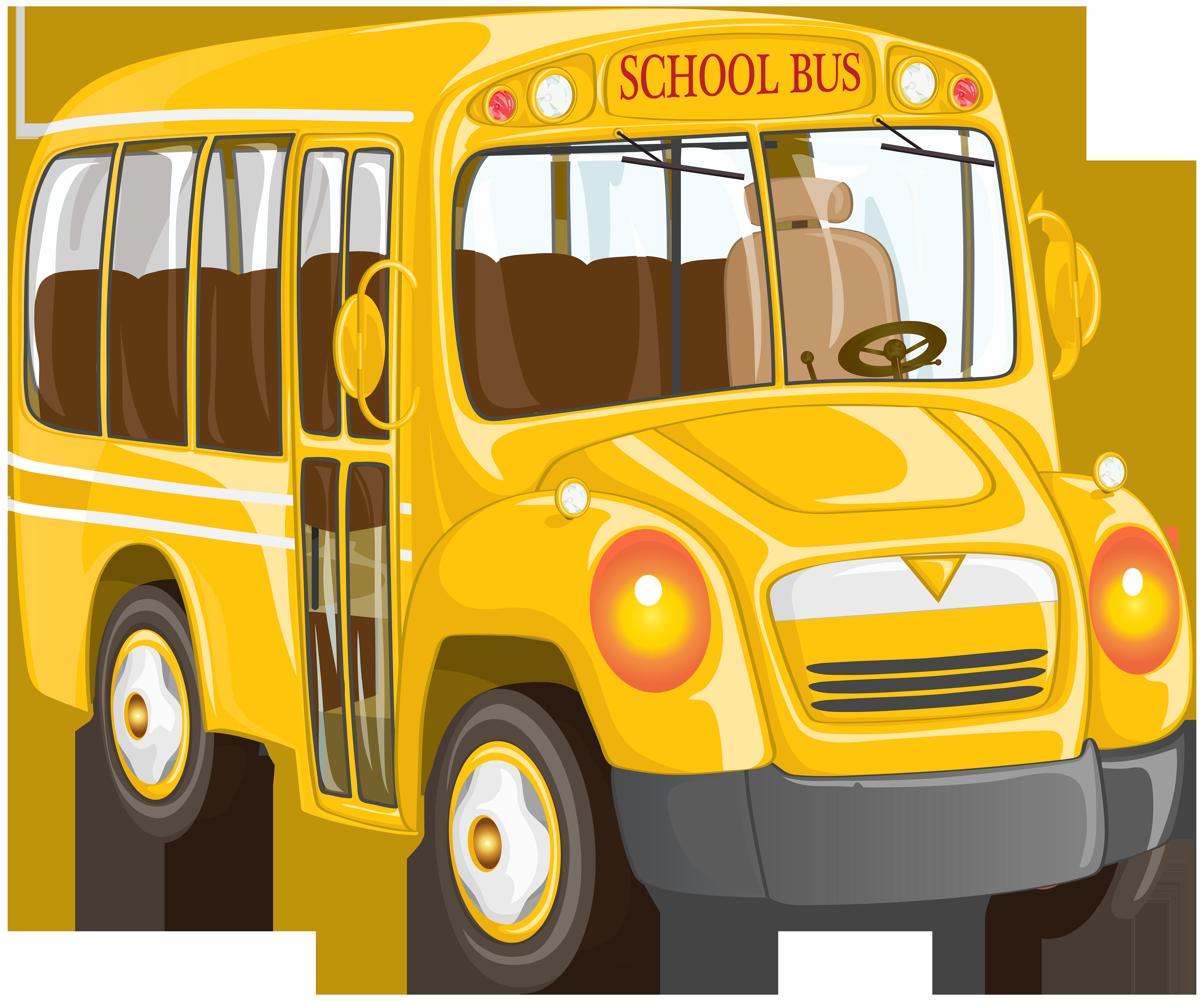 School png clip art. Clipart bus land transport