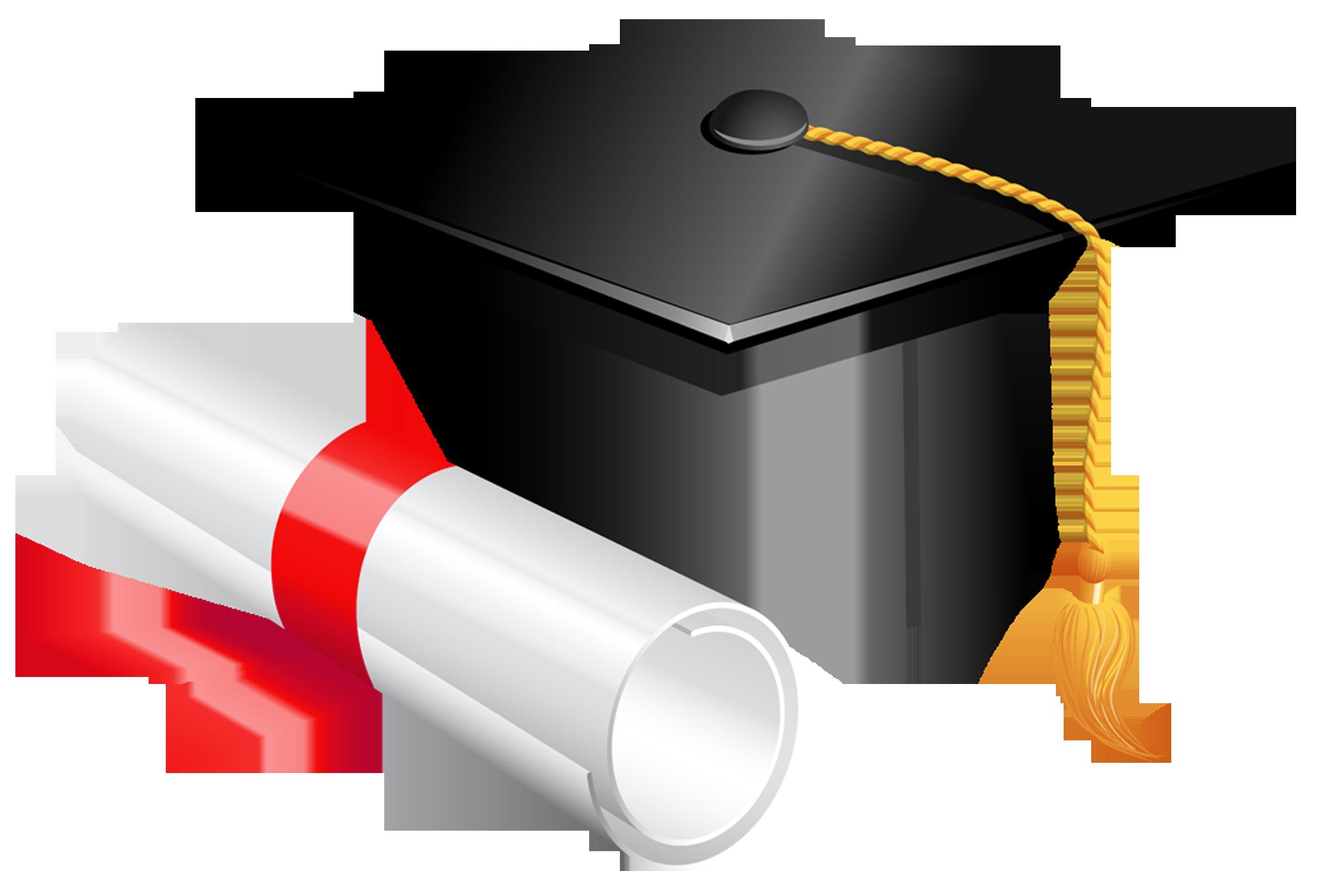 Cap and diploma png. Graduation clipart backdrop