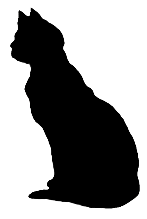 Rat clipart silhouette. Cat clip art looking
