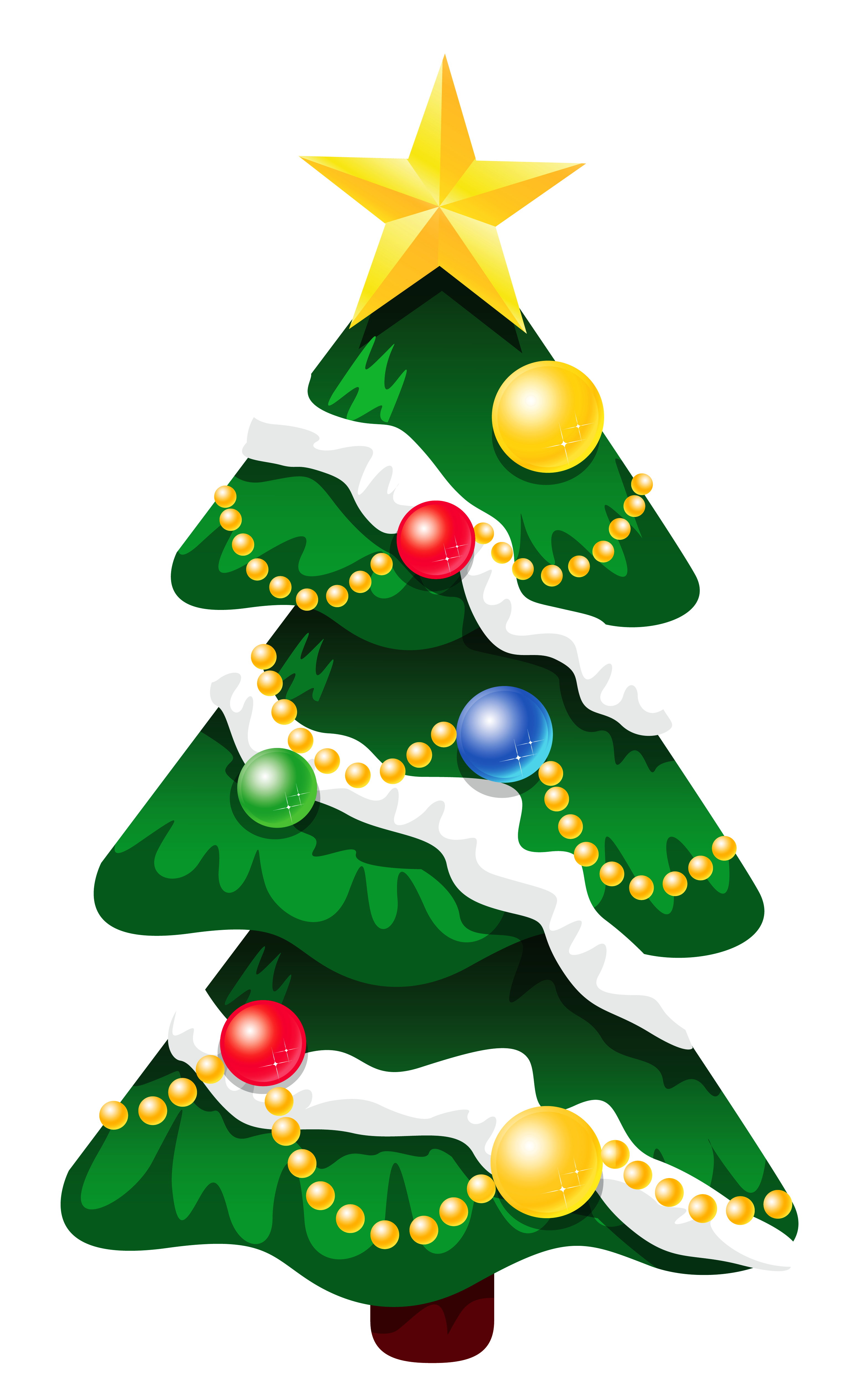 Christmas tree vector png. Transparent snowy deco xmas
