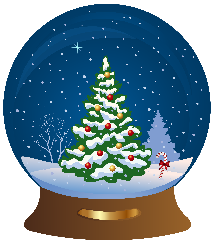 Globe clipart tree. Christmas snowglobe transparent png