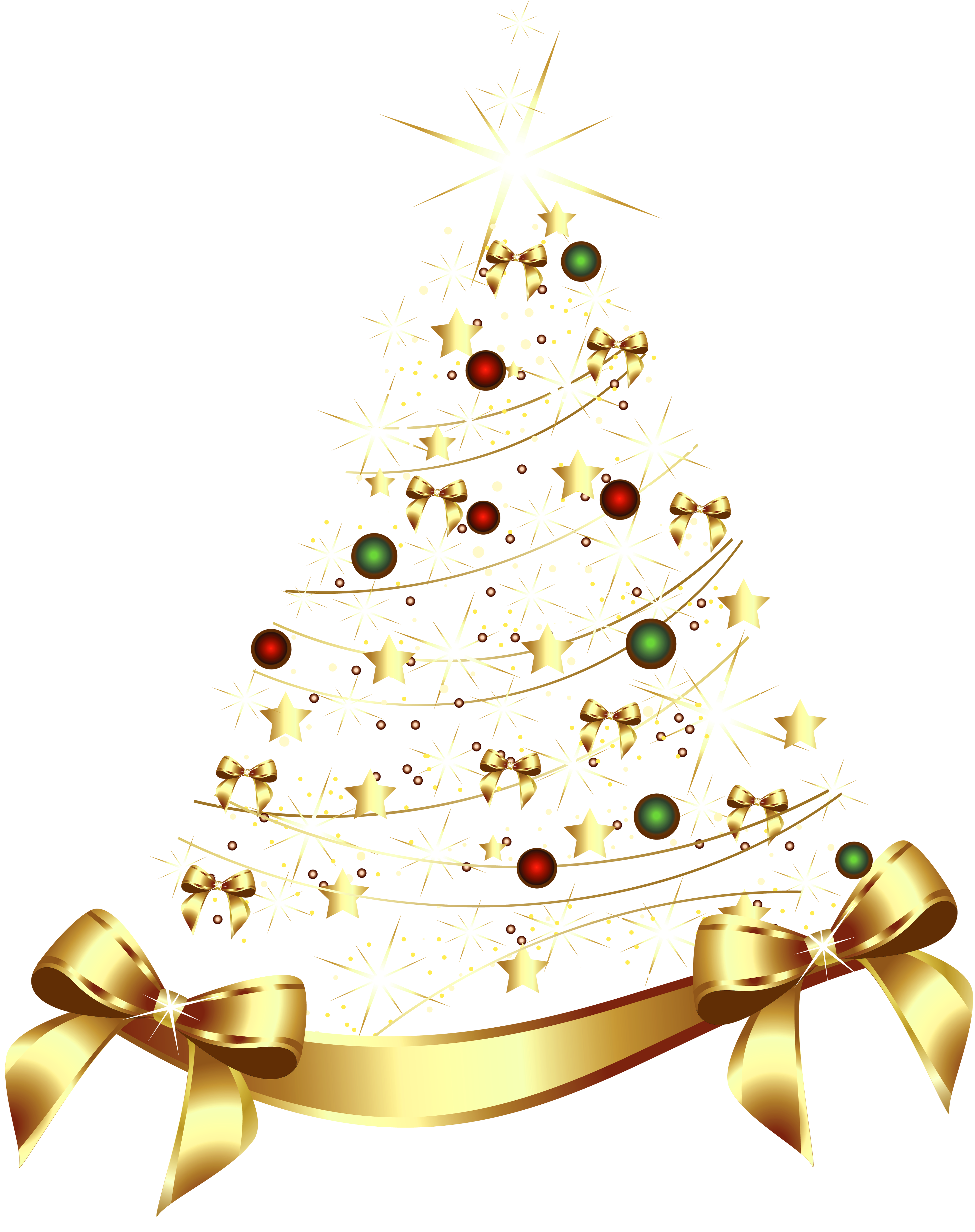 Glitter clipart christmas. Large transparent gold tree