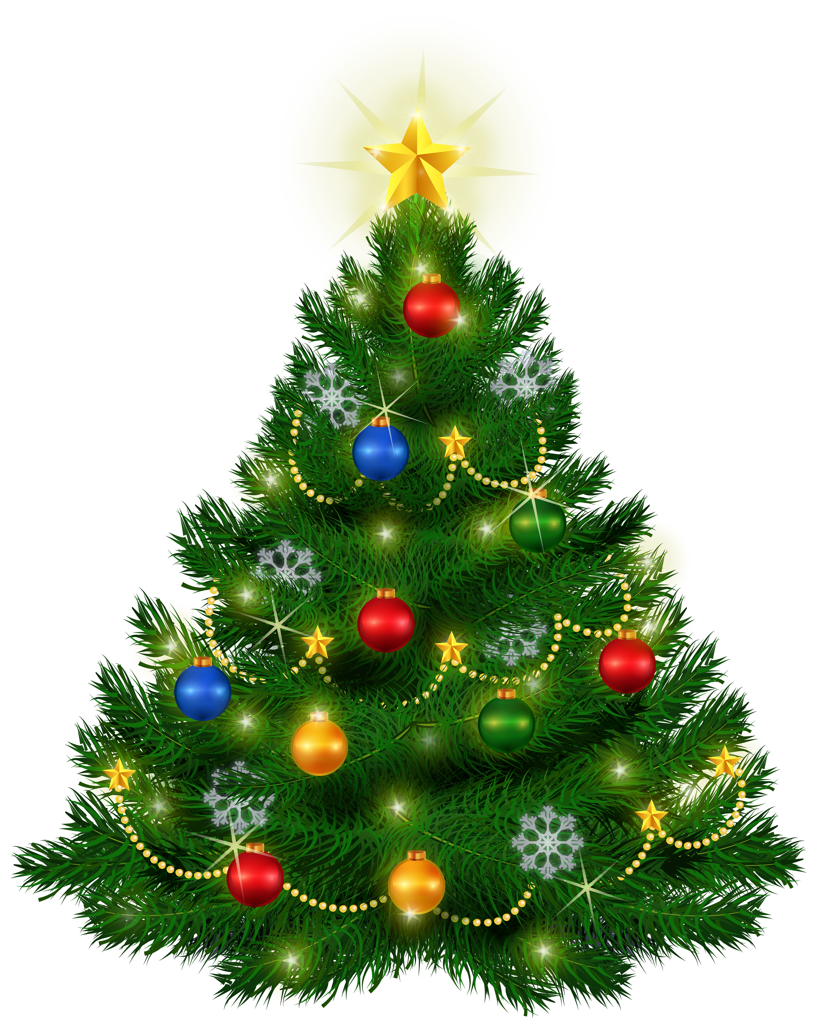 Beautiful tree png image. December clipart merry christmas