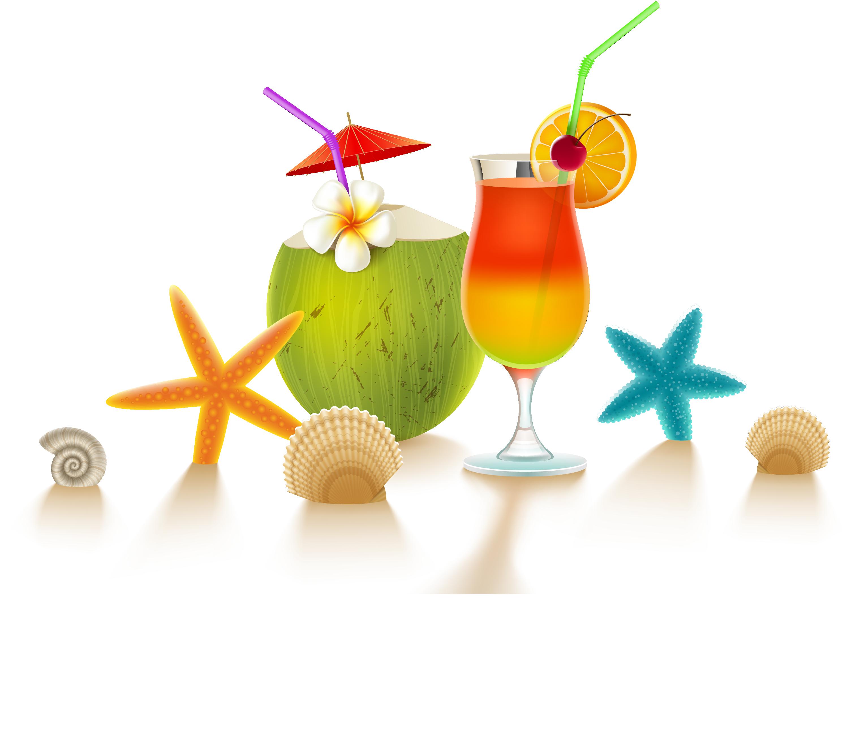 Aquapark bar illustration cool. Cocktail clipart coconut hawaii