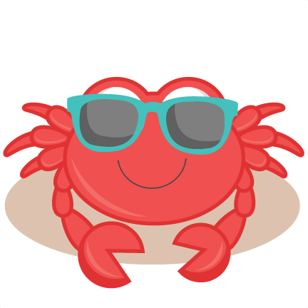 Pin on crafts cards. Crab clipart beach theme
