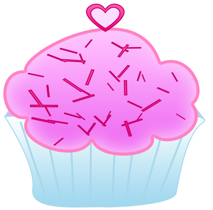 Hearts clipart cupcake. Pink by worddraw deviantart