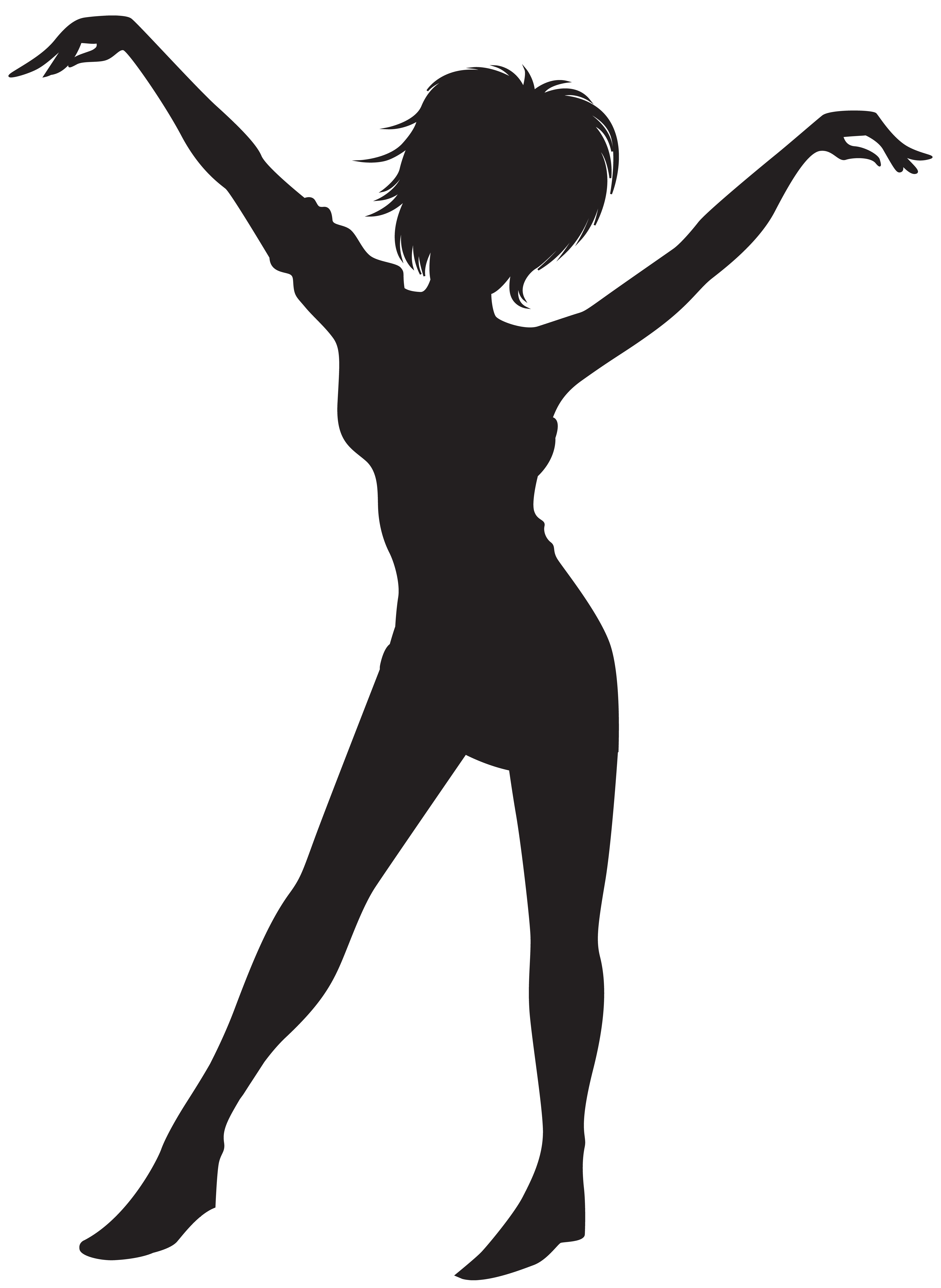 Lady clipart dance. Dancing girl silhouette clip