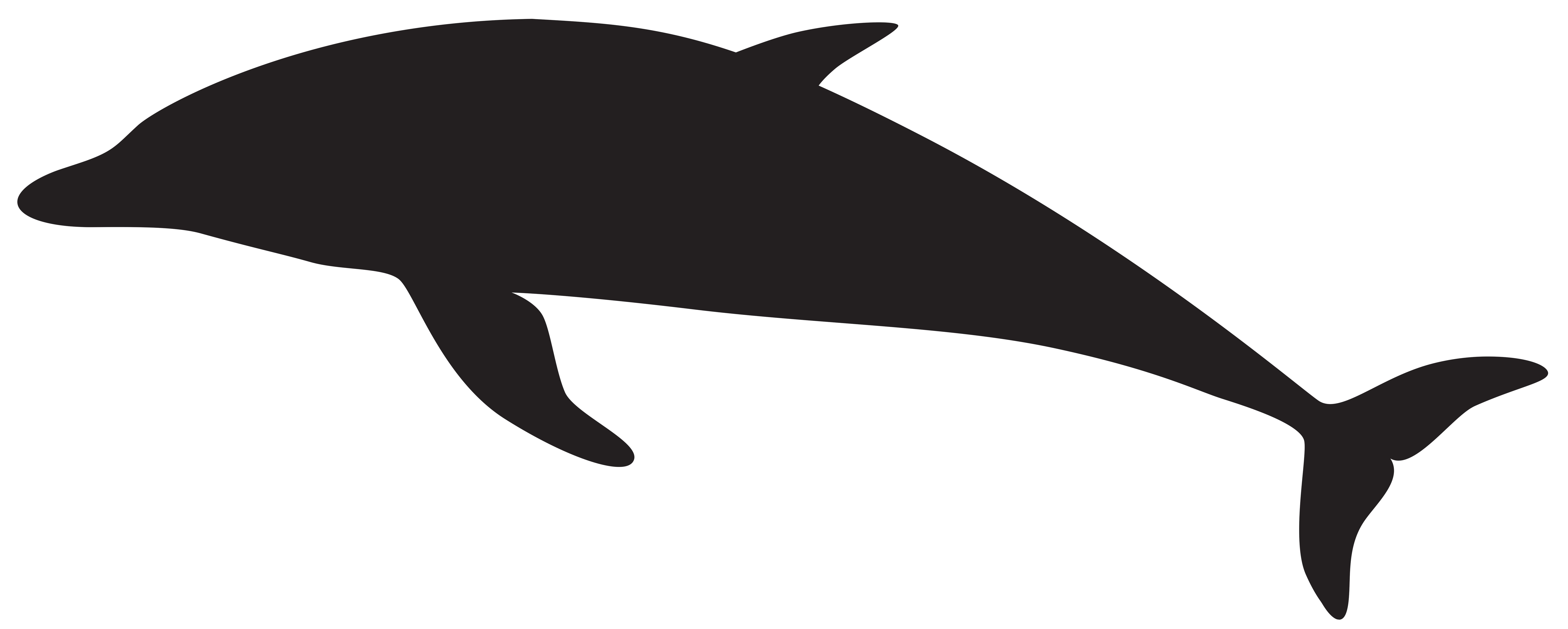 Silhouette png clip art. Hearts clipart dolphin