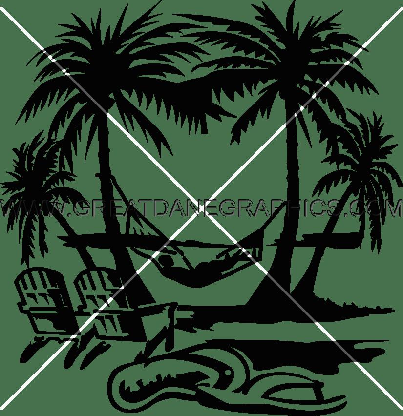 palm clipart hammock