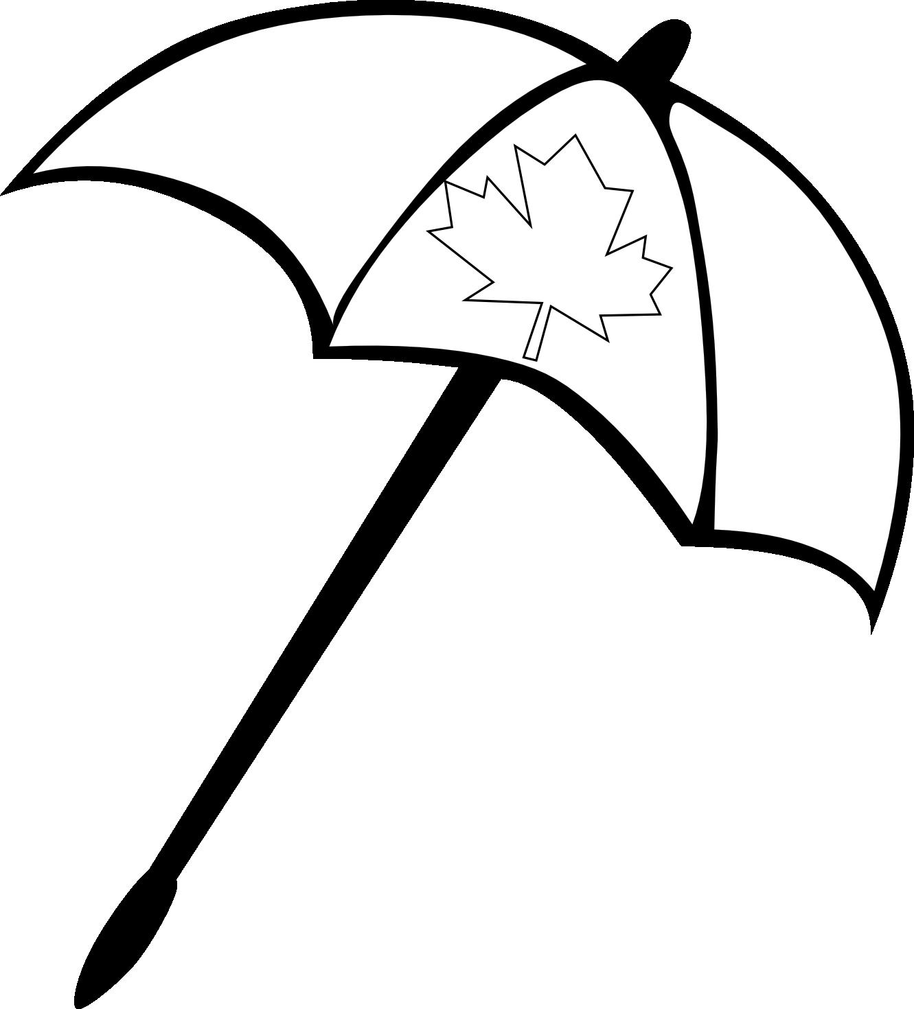 Clipart umbrella small umbrella. Beach black and white