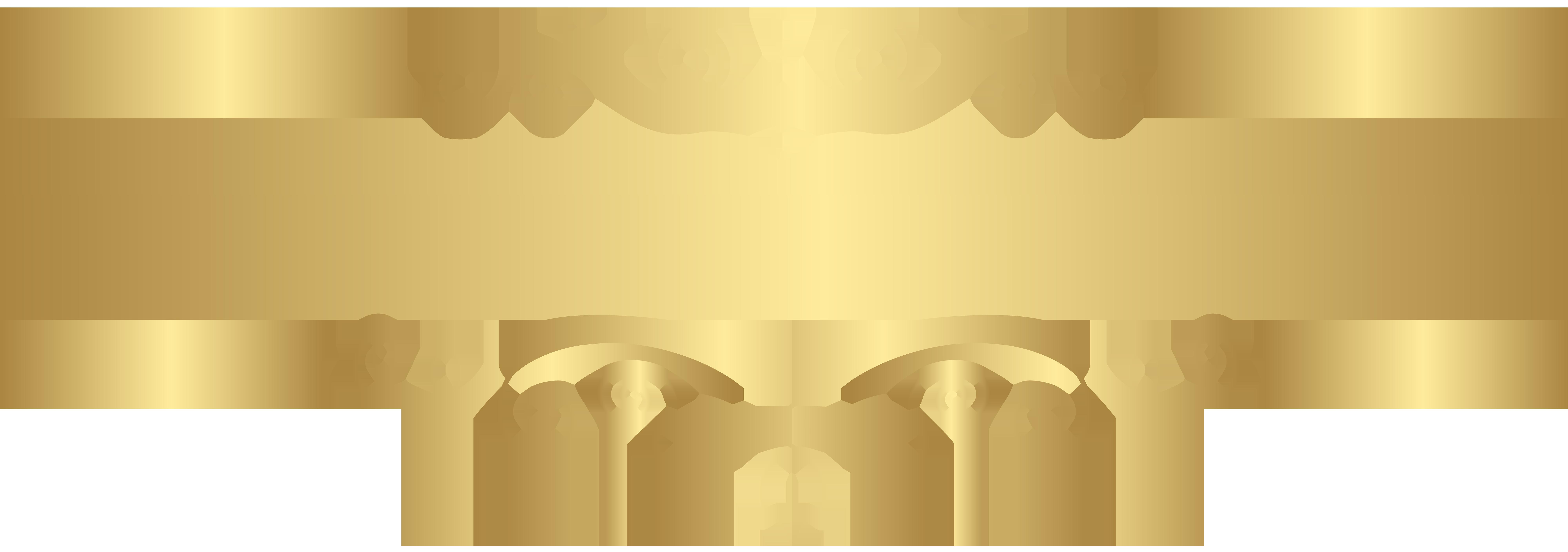 Clipart summer element. Gold decorative transparent clip