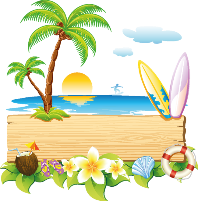 Free eps file summer. Moana clipart vector