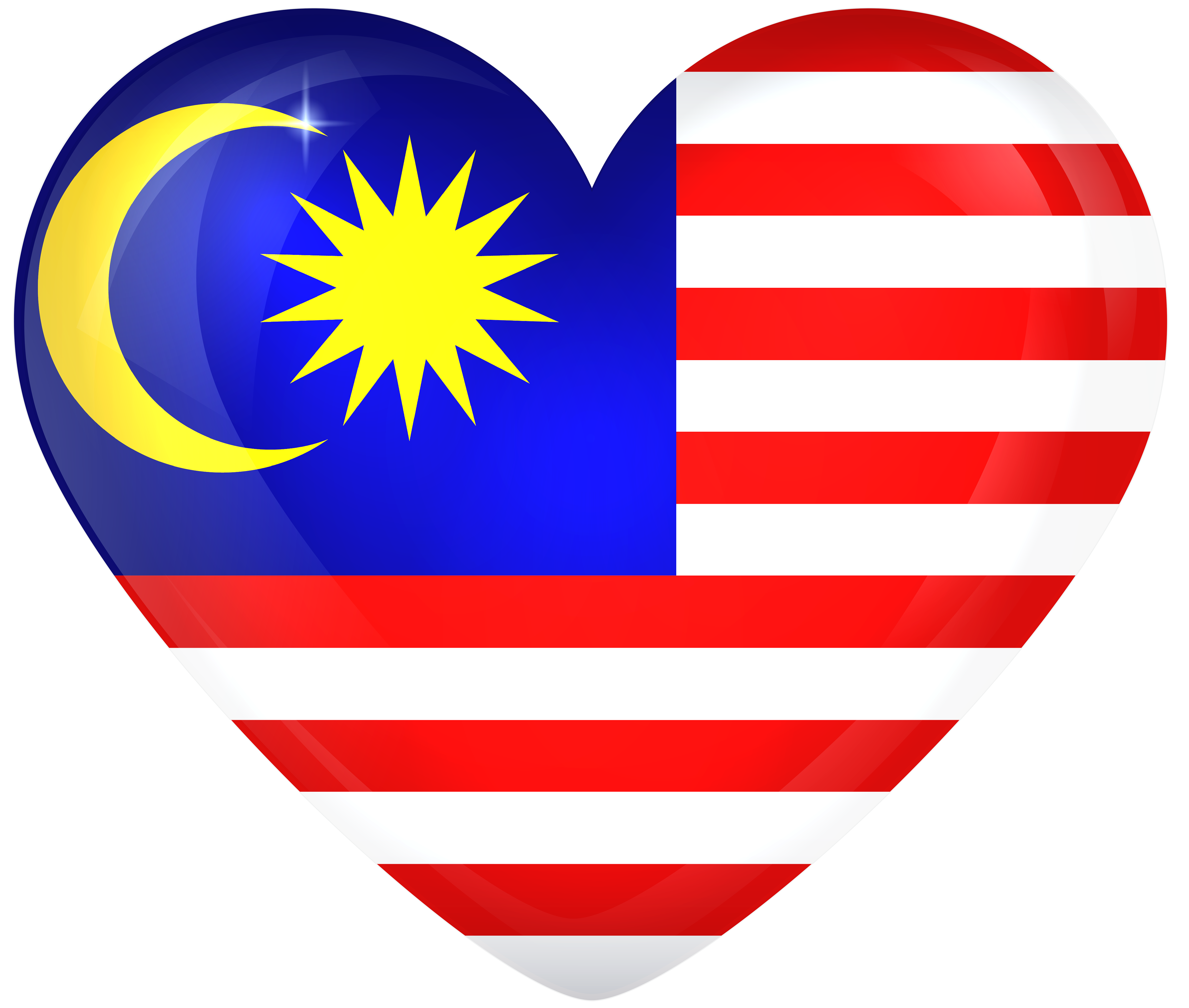 Flag clipart frame. Malaysia large heart gallery