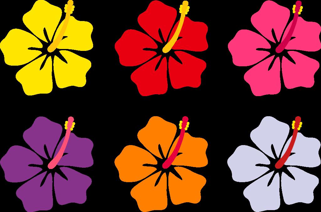Hawaiian clipart animated. Hawaii flowers cartoon desktop