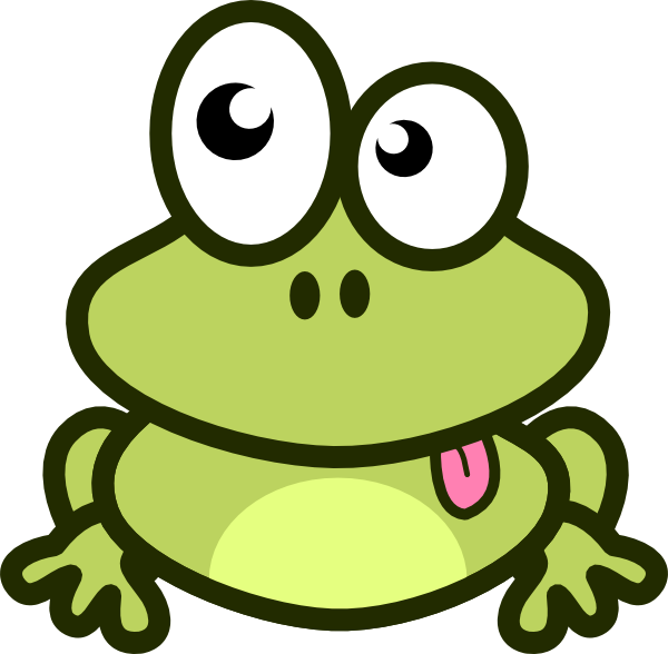 Cartoon clip art vector. Clipart teacher frog