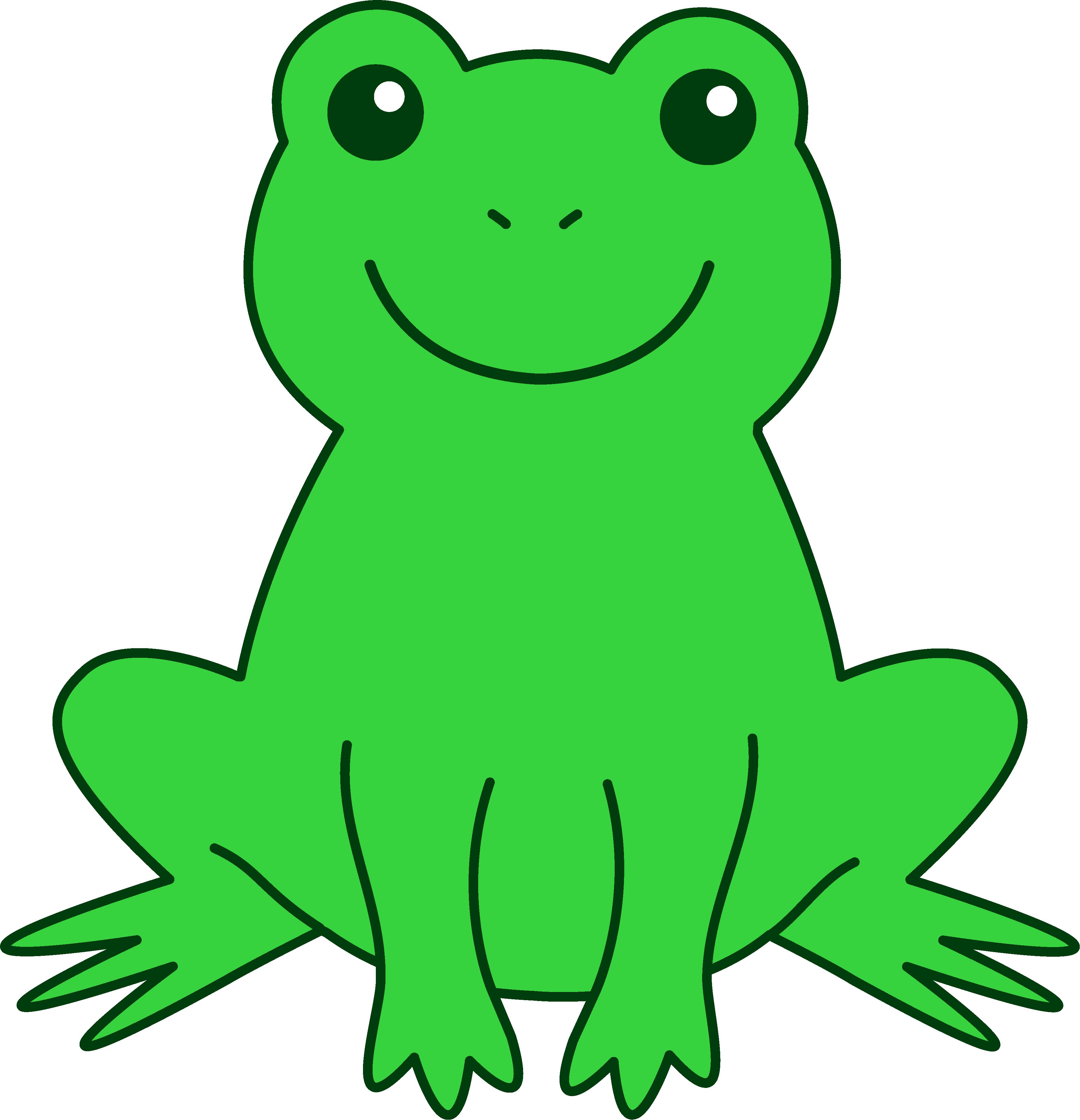 Outline clipart frog.  frogs cartoon best