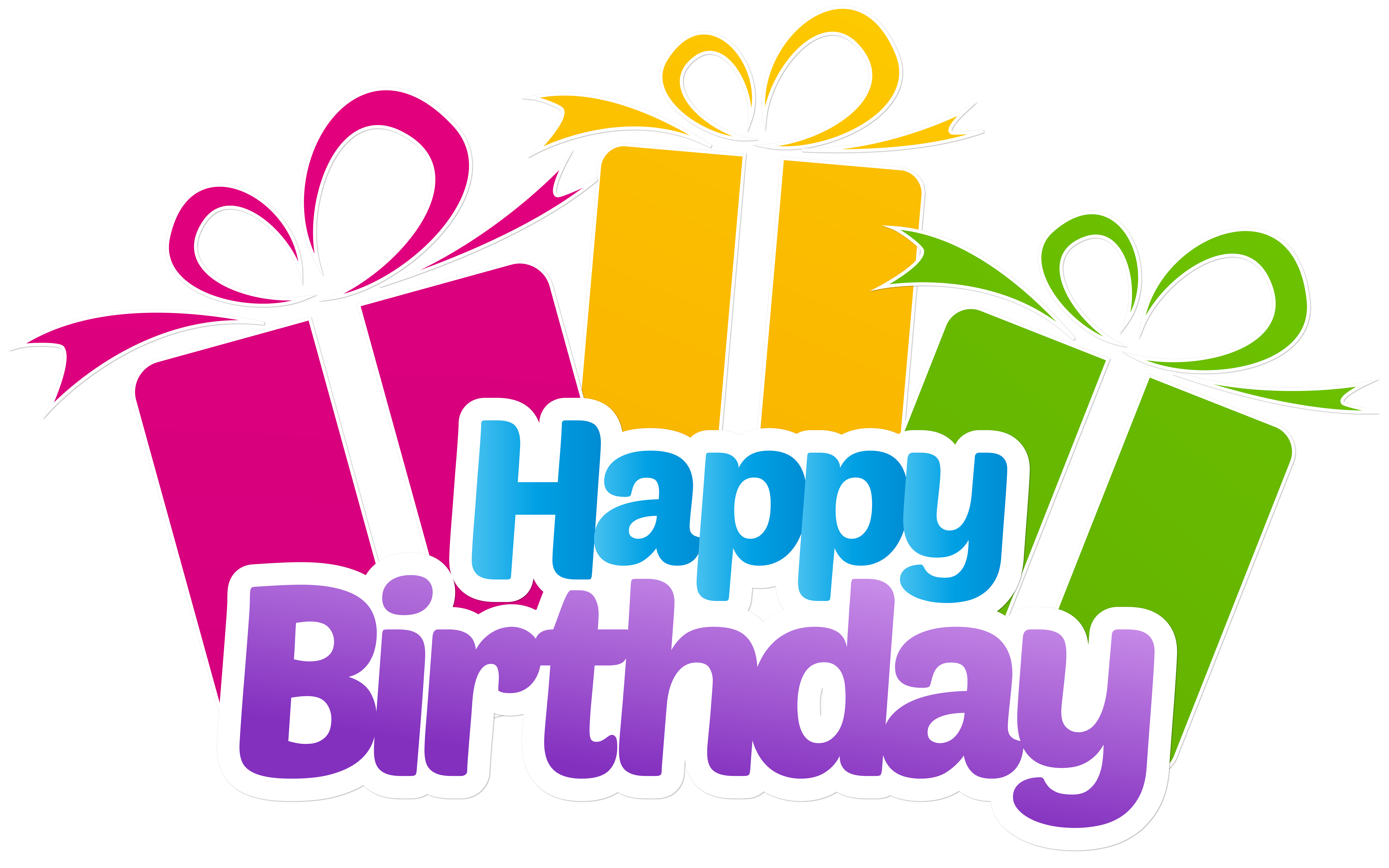 With gifts png clip. Gift clipart happy birthday