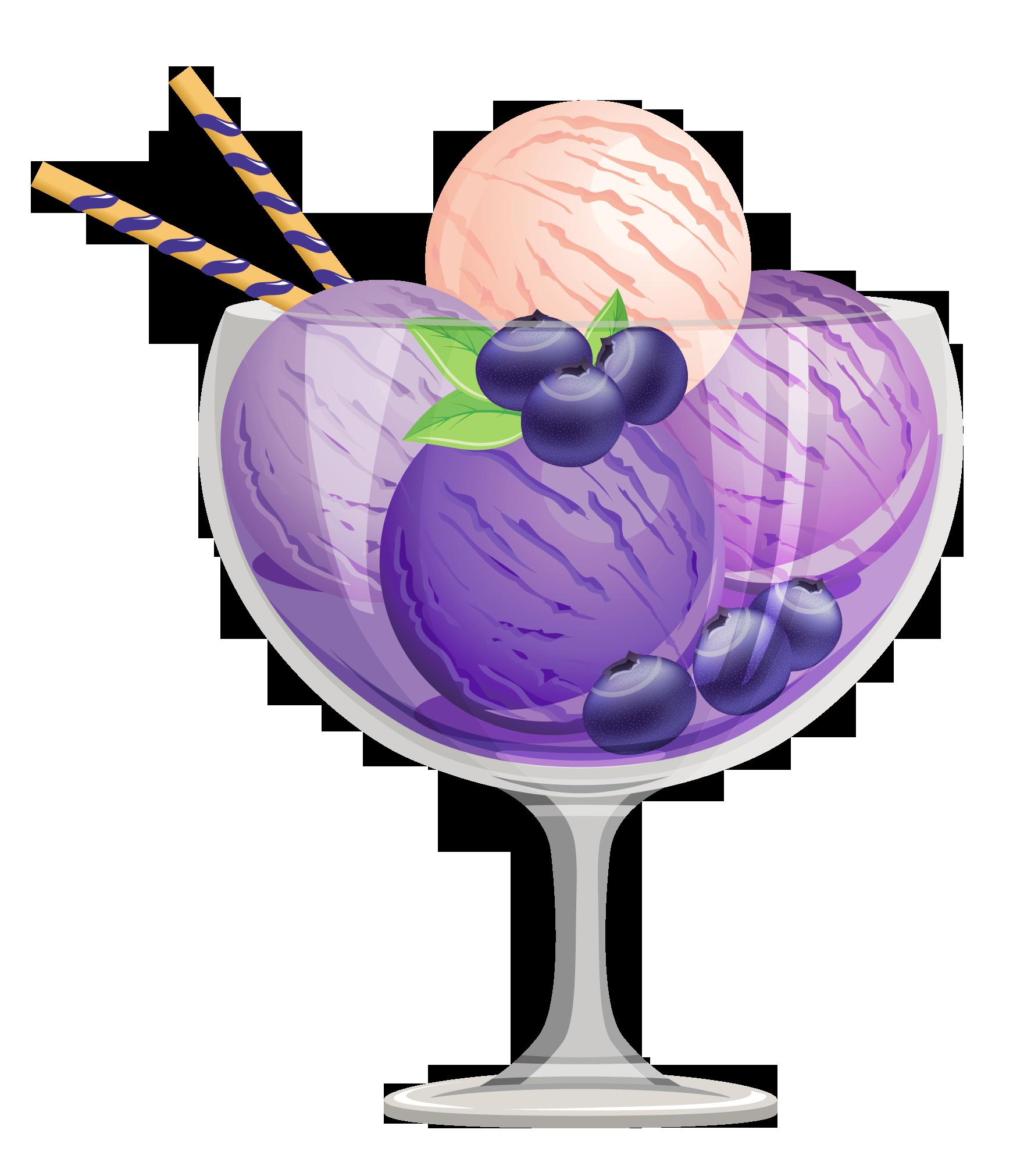 Sundae clipart gelato. Transparent blueberry ice cream