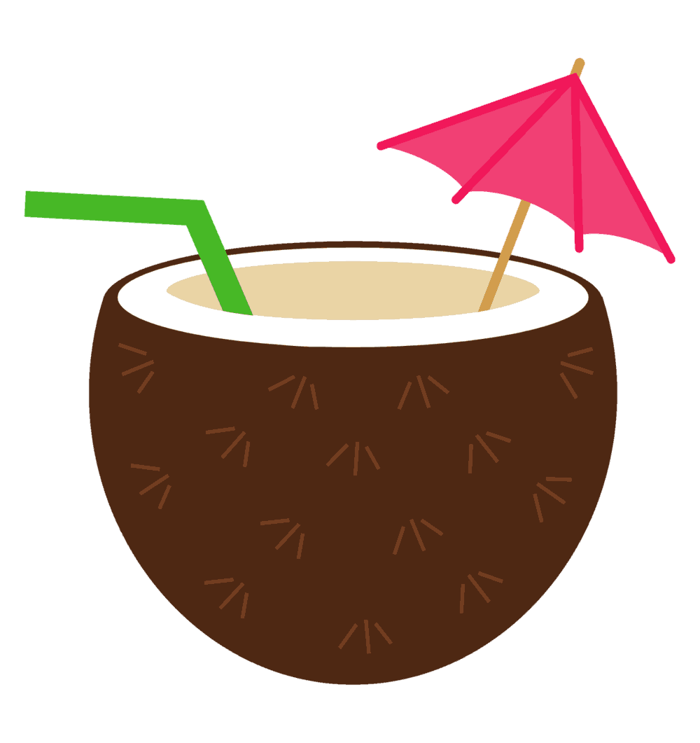 Drink miami on the. Cocktail clipart coconut