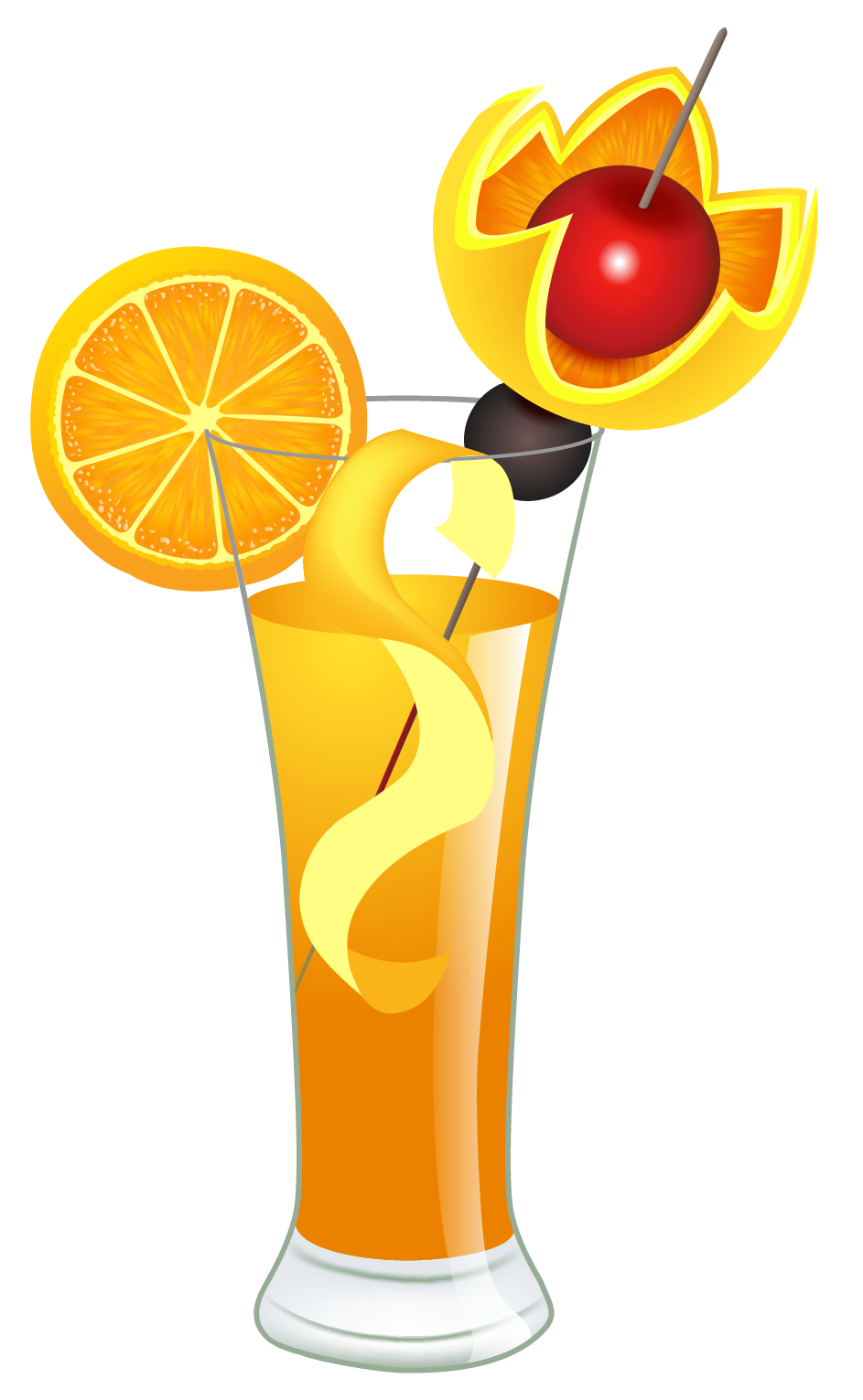 Orange cocktail png picture. Drink clipart drink hawaii