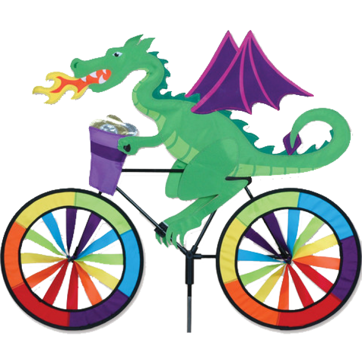 Dragon on a bicycle. Clipart bike spin bike