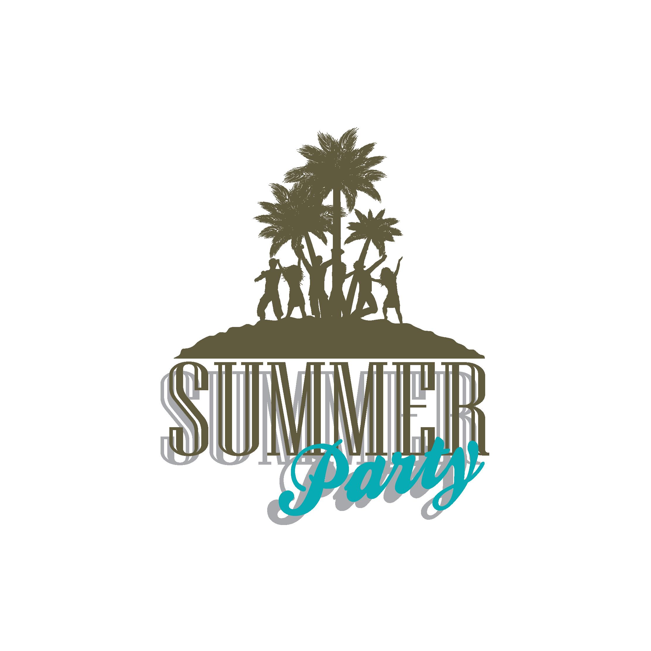 Silhouette clipart beach. Party clip art summer