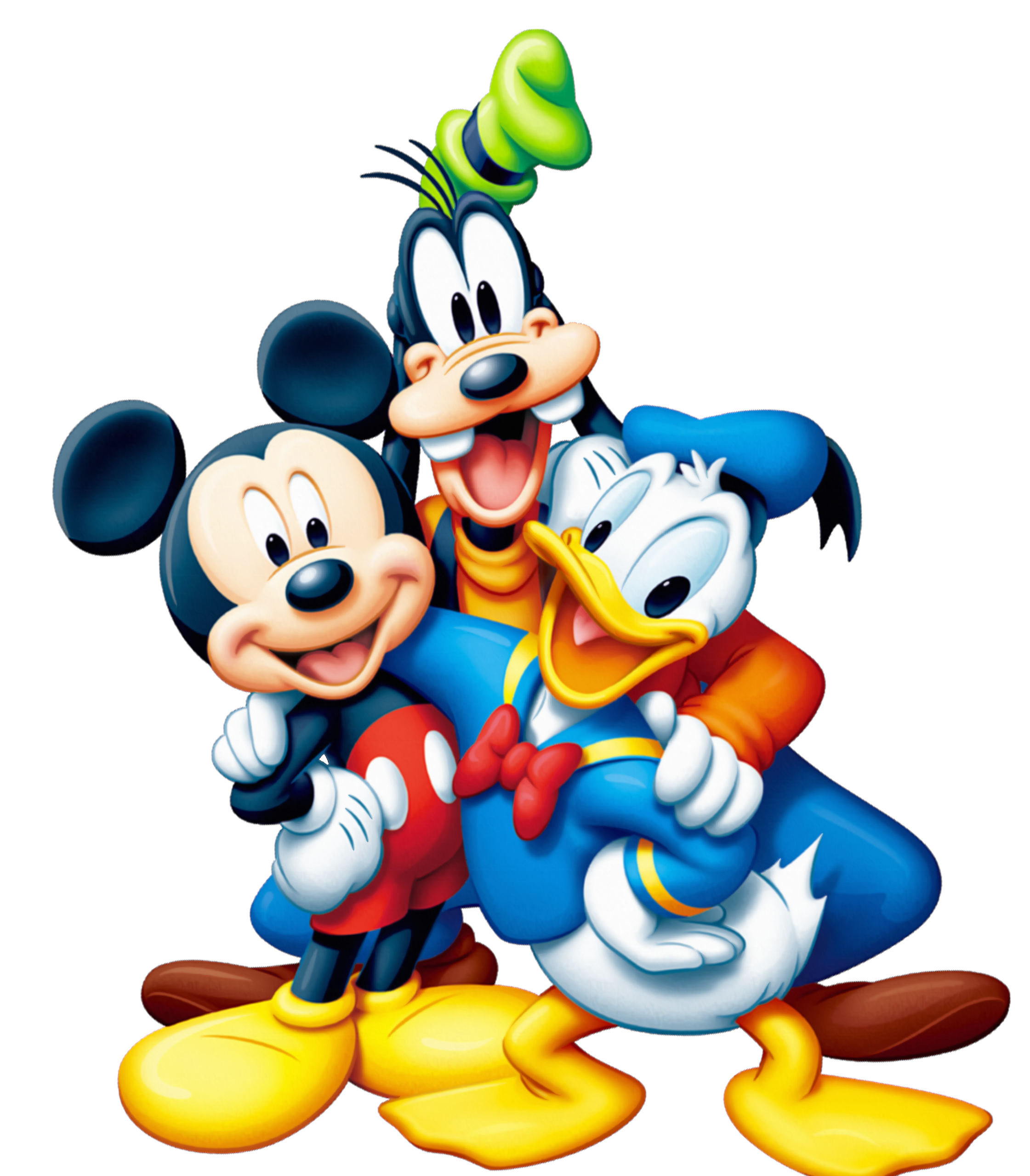 Mickey mouse and friends. Friendship clipart stick