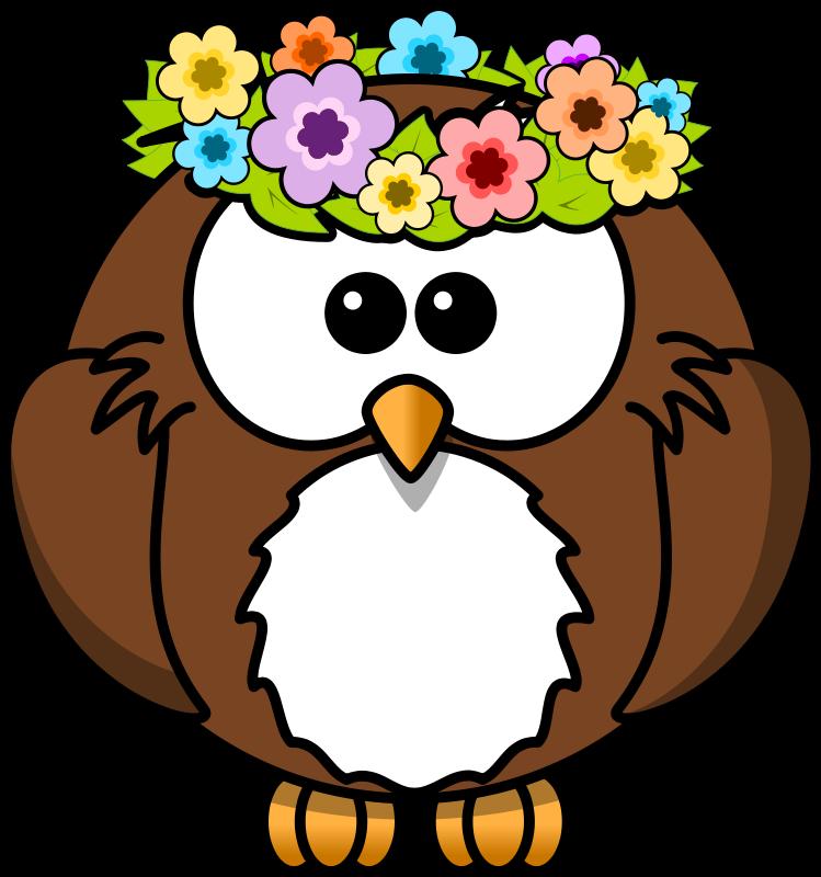 Floral clipart owl. Lindos desenhos de coruja