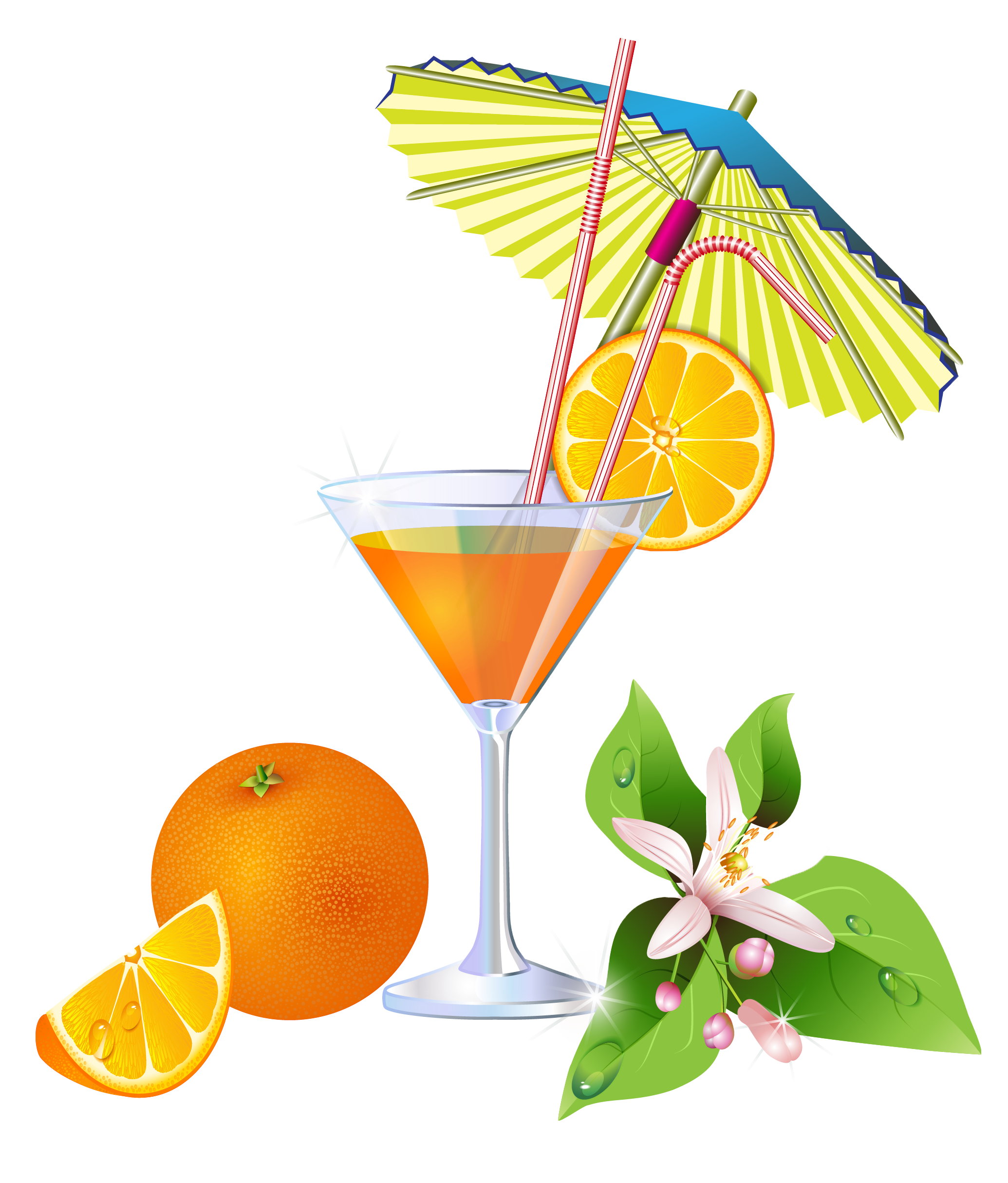 Napkin clipart cocktail. Summer orange png clip