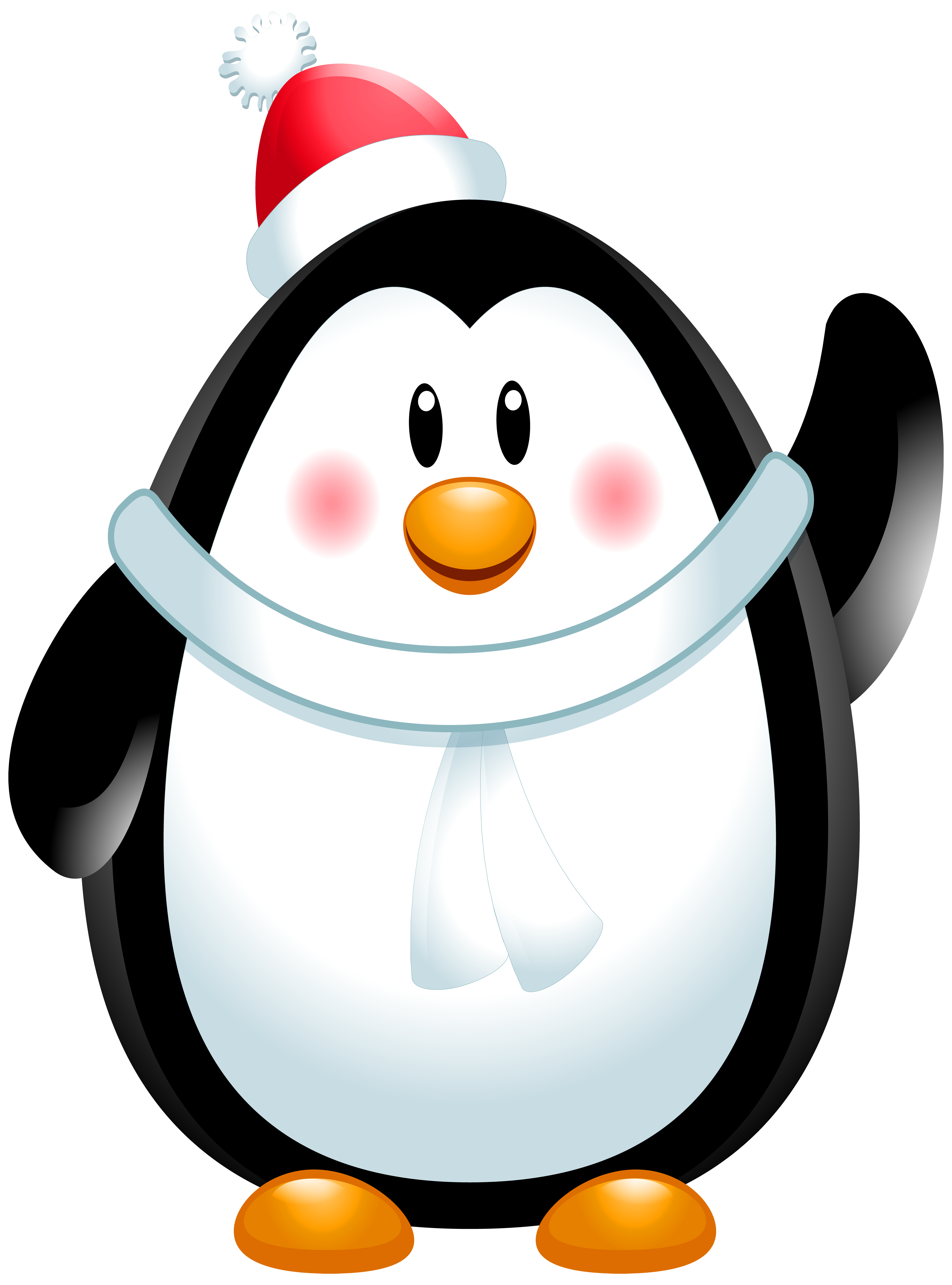 Clipart penguin summer. Christmas png clip art