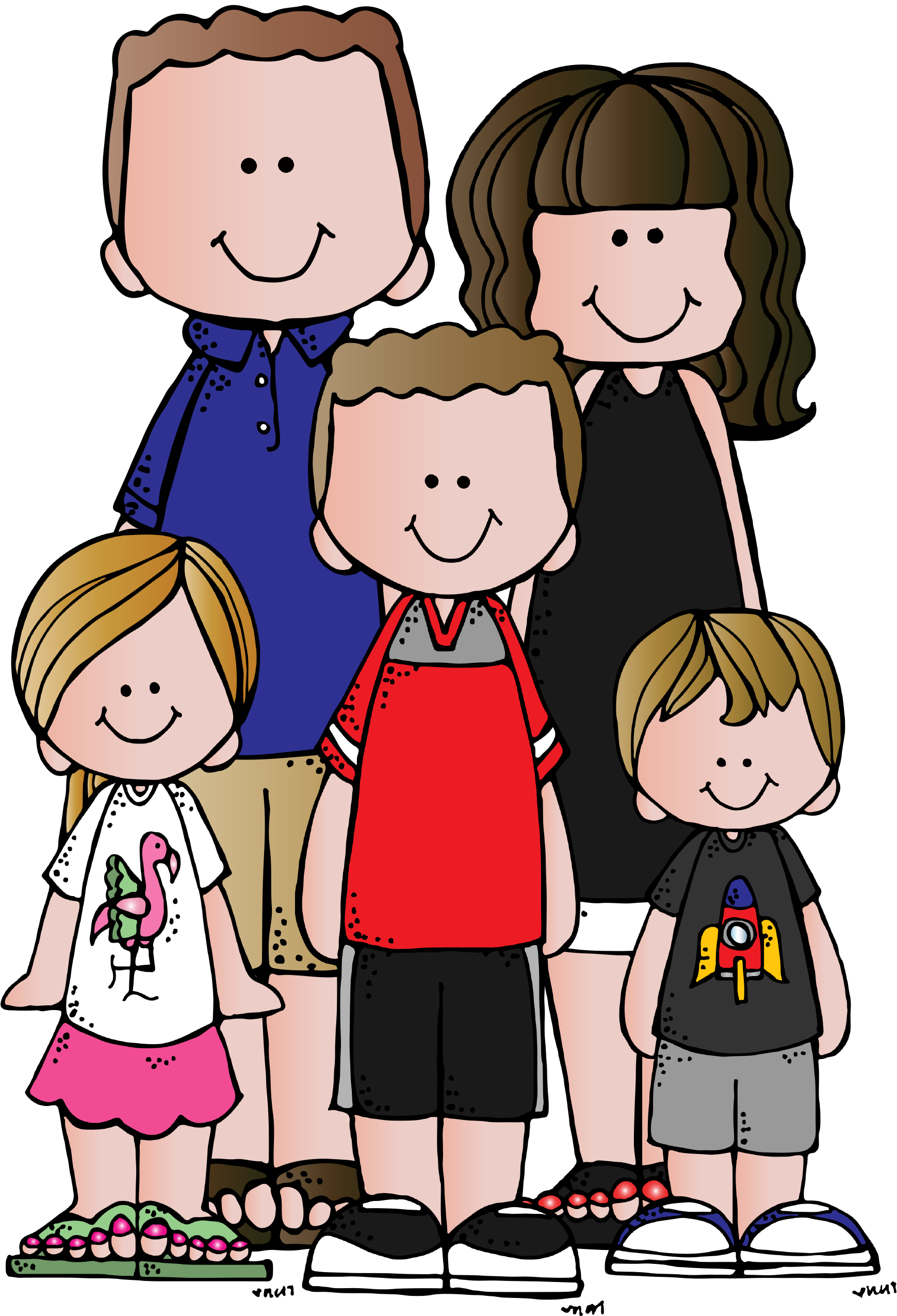 clipart football family