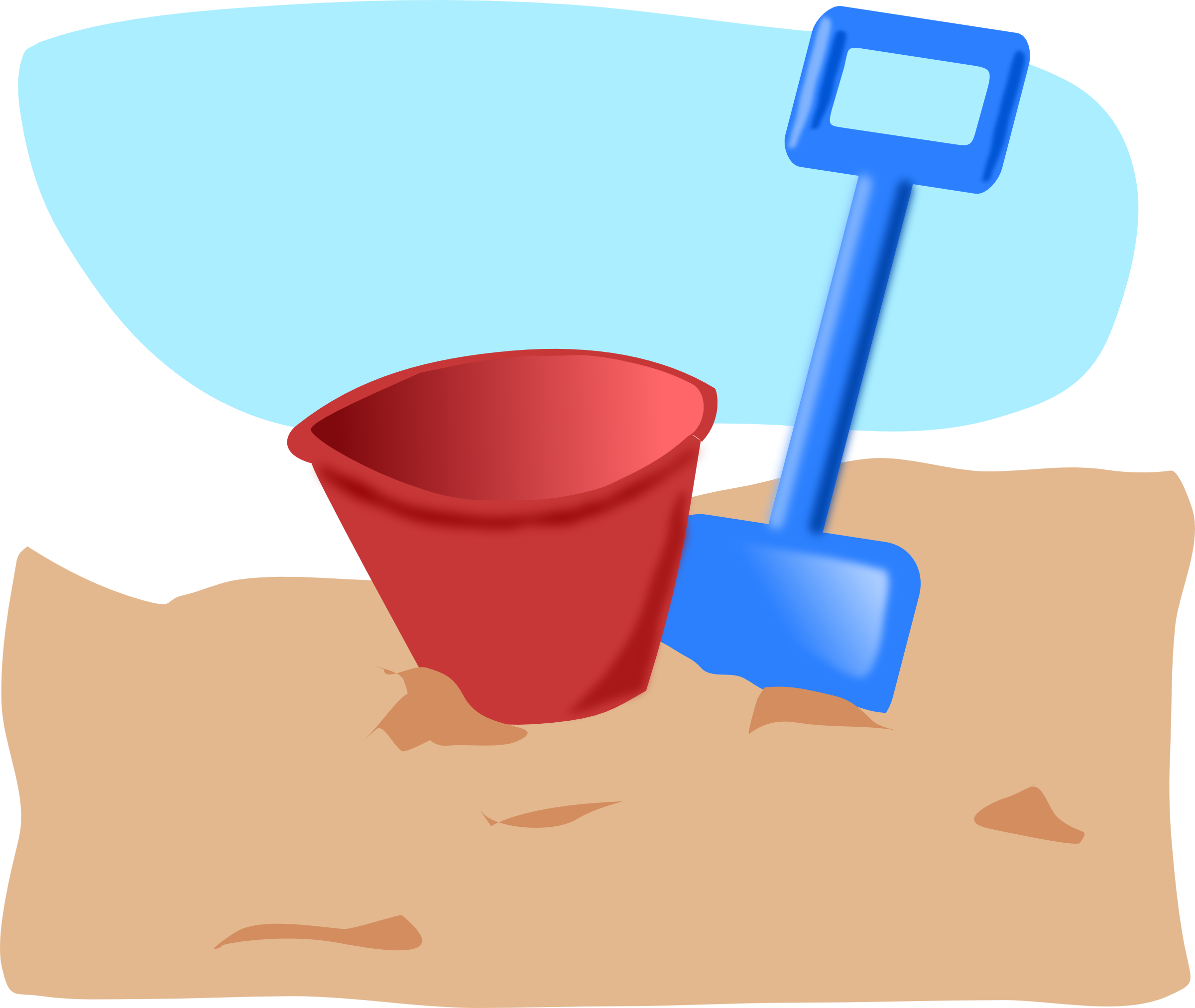 Raffle clipart bucket. Sand black and white