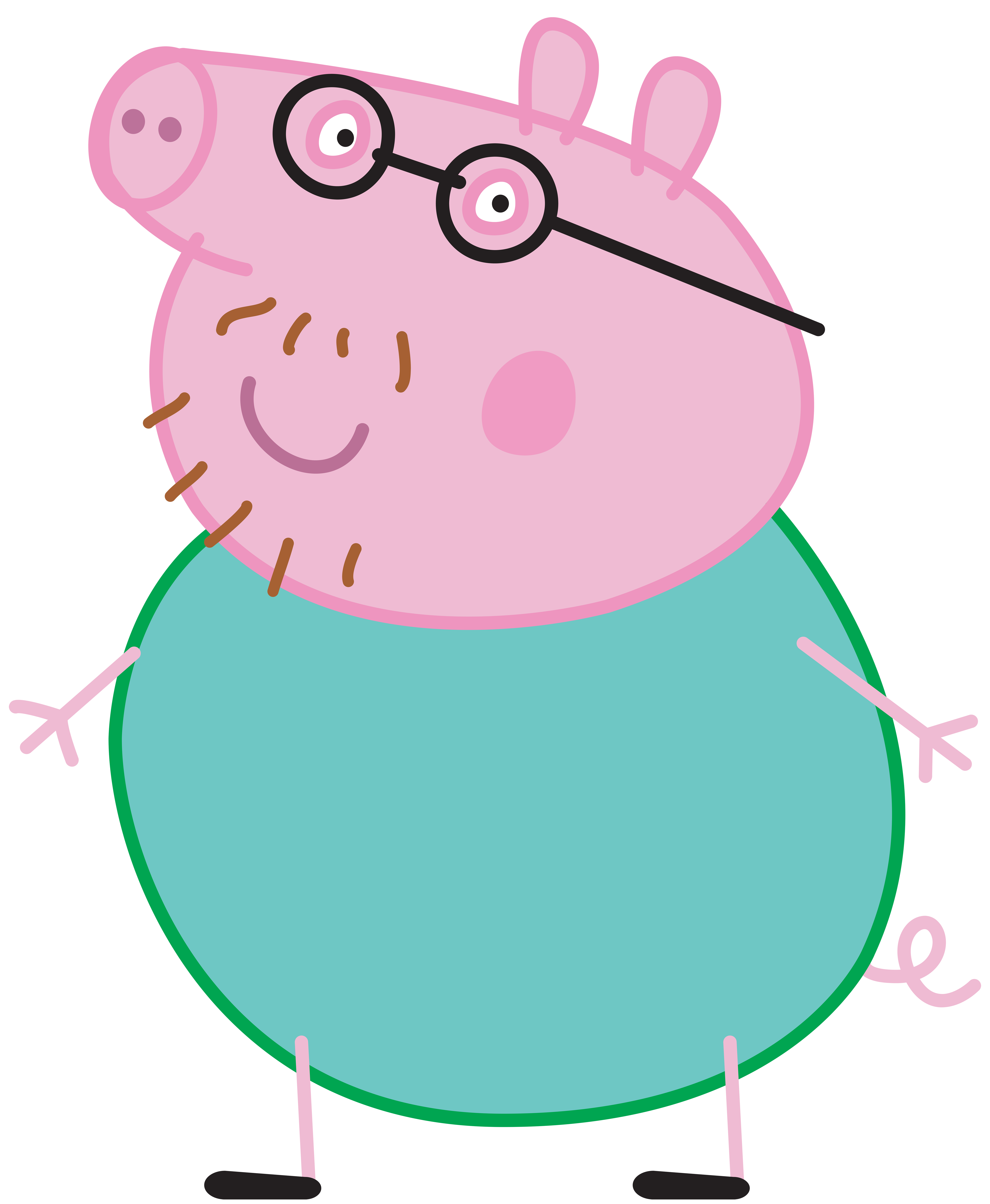 Clipart pig beach. Daddy peppa transparent png
