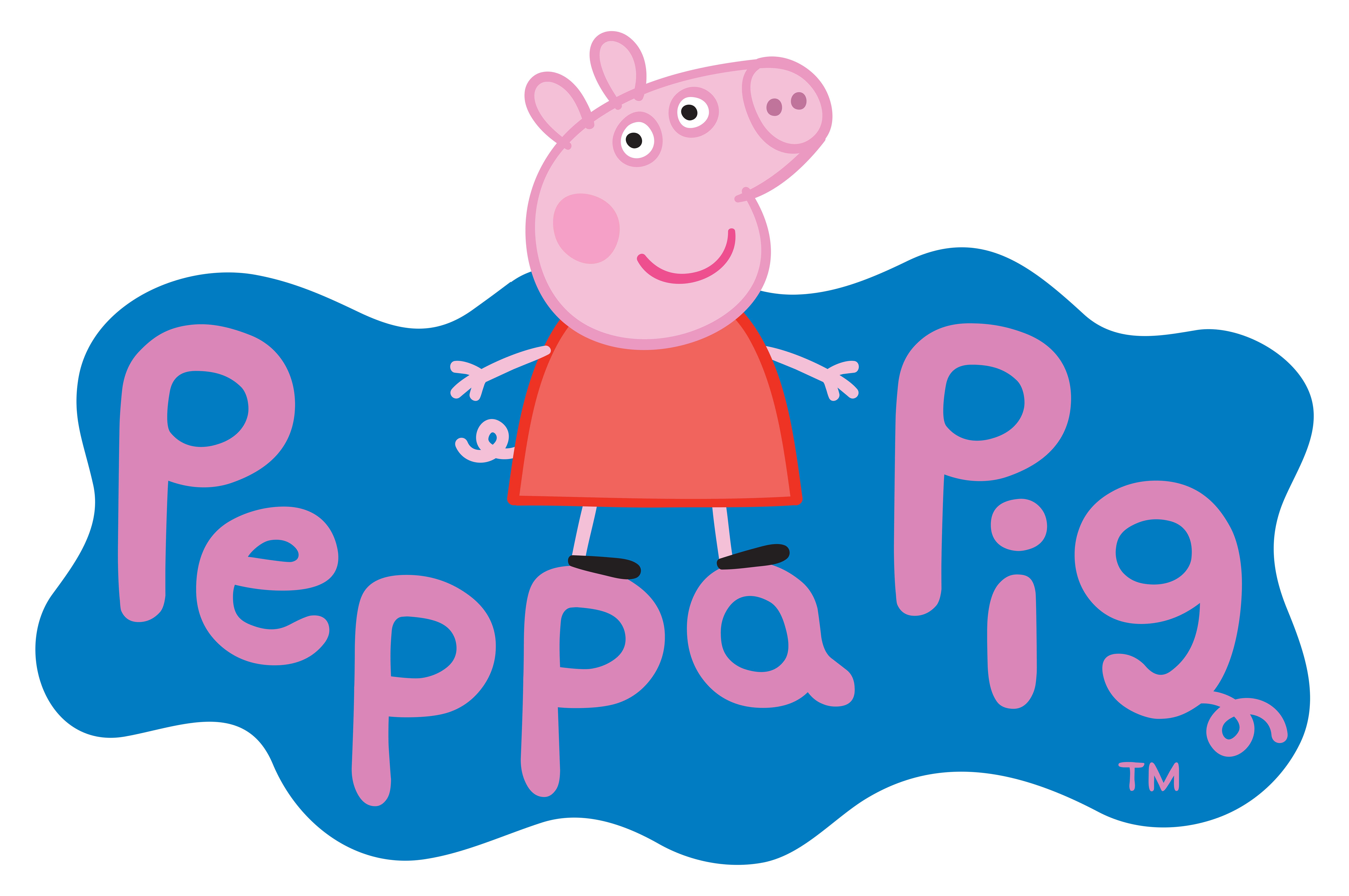 Peppa logo transparent png. Clipart pig beach