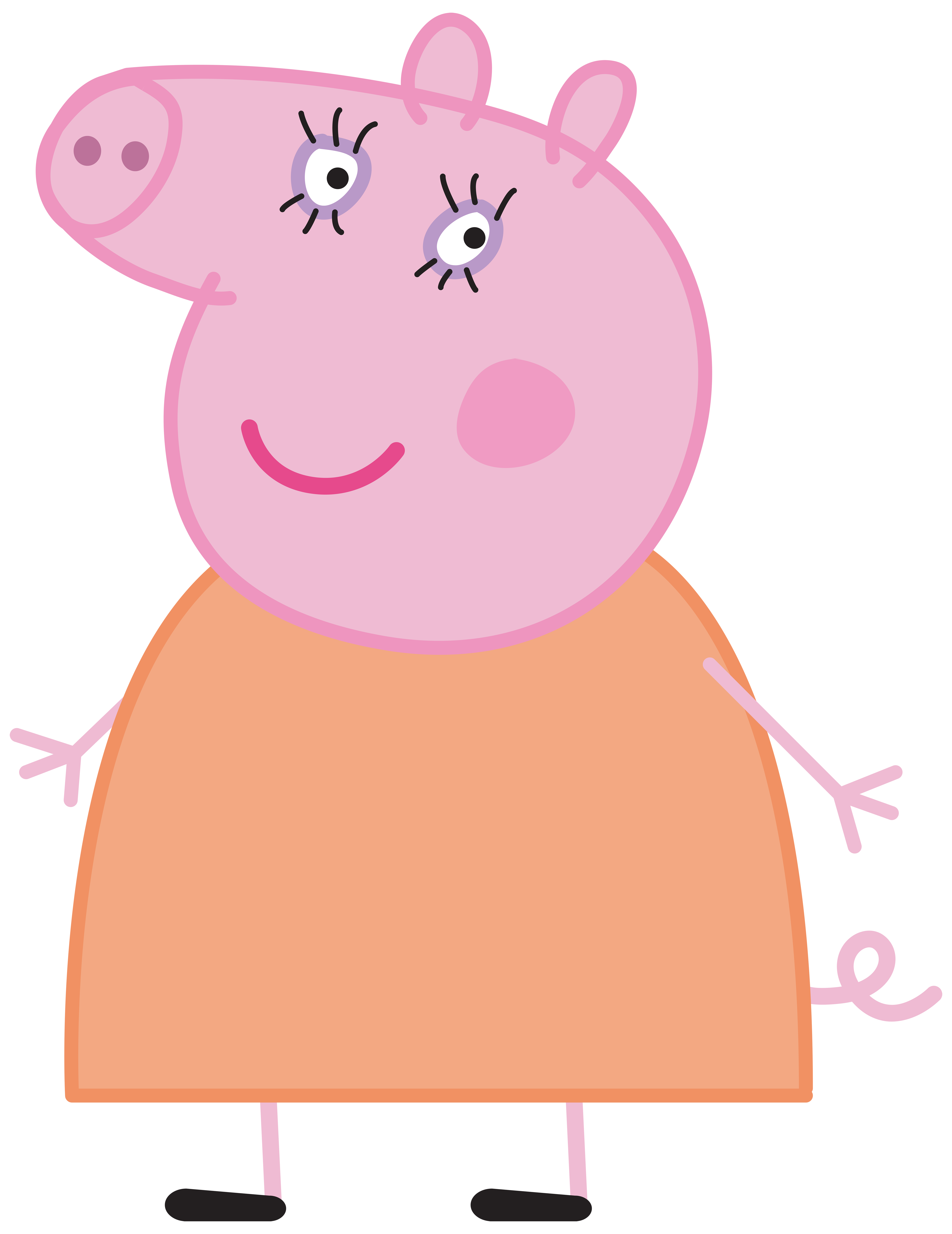 Pig peppa transparent png. Mummy clipart cooking